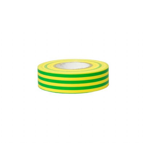 Green/Yellow PVC Adhesive Tape - 19mm x 5m-0-557-48